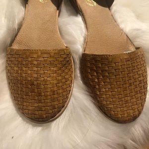 Seychelles Eager  Woven Dorsay Flat 8 Leather